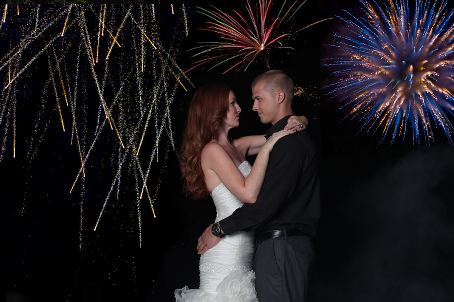 Under the Sea Inspired Wedding Fireworks / photo by Tab McCausland Photography