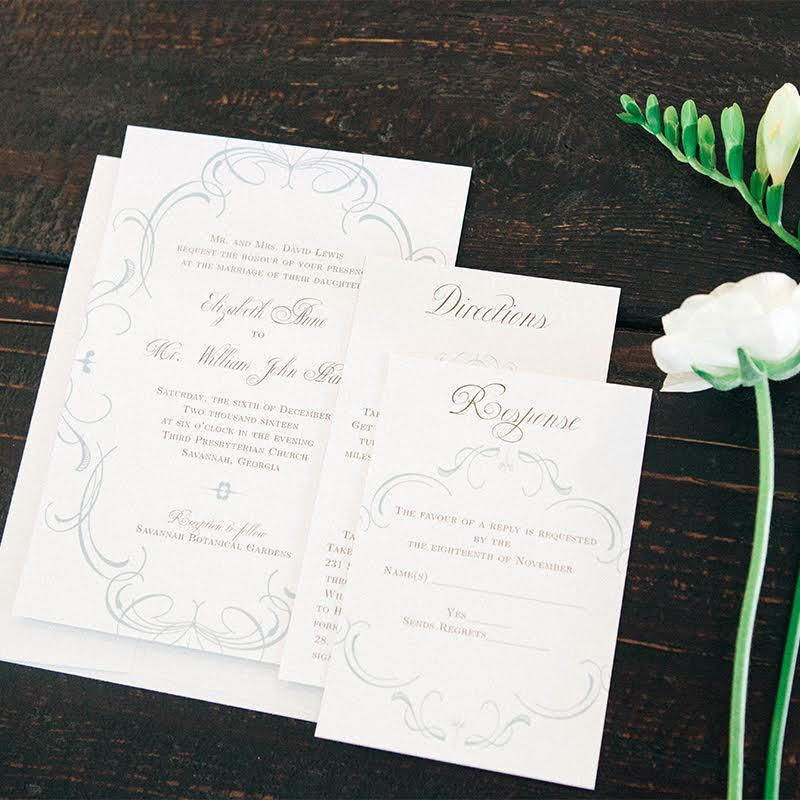 Flourish Charm Wedding invitation from Basic Invite