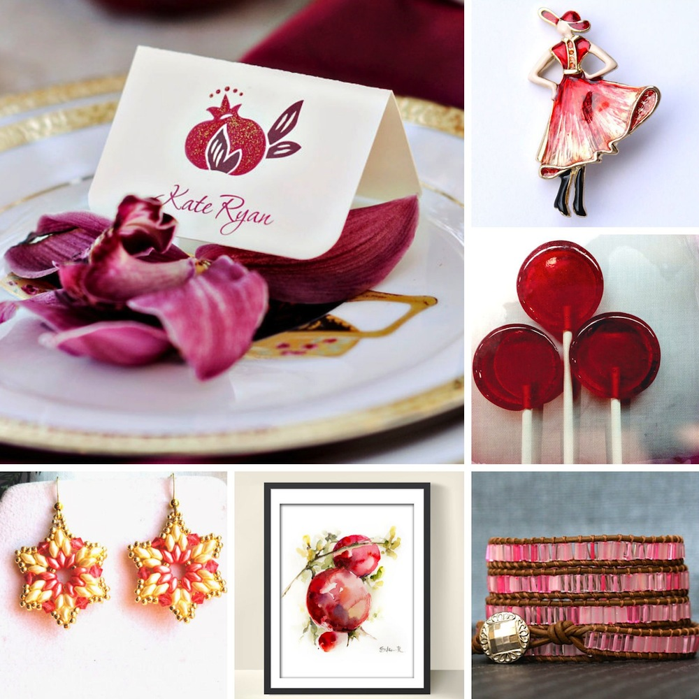 Sweet Pomegranate Red Wedding Inspiration Board