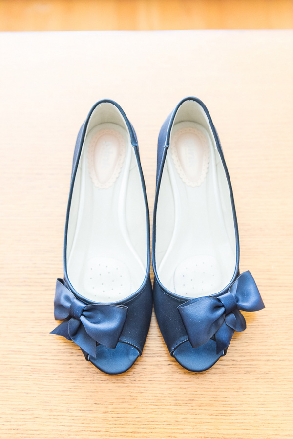 Something Blue Wedding Shoes Gorgeous Lace Pronovias Wedding Gown from a New Jersey Real Wedding / photo by Havana Photography
