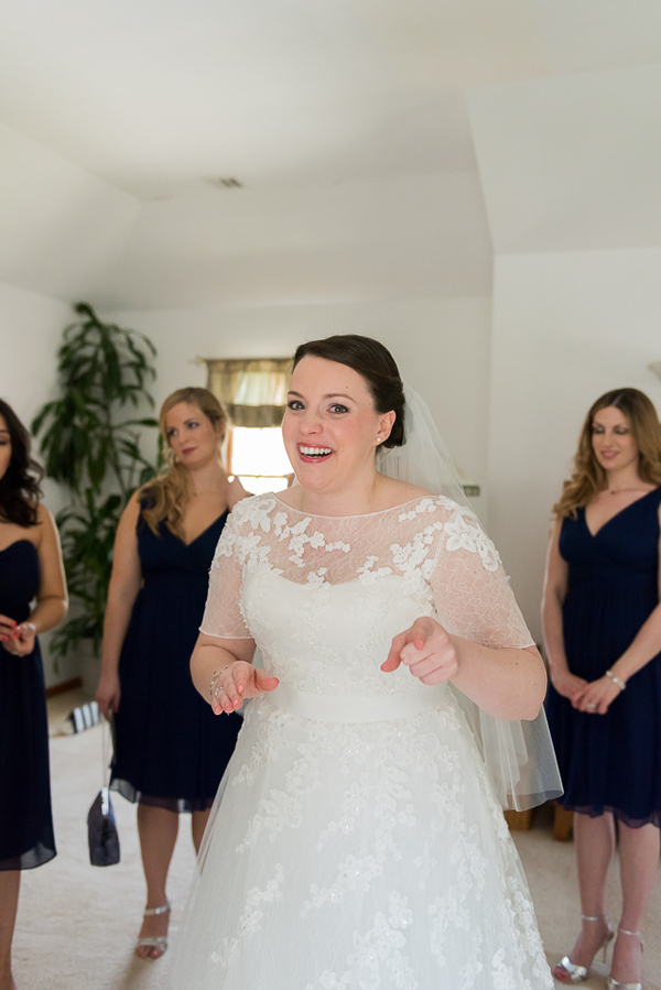 The Happy Bride from a New Jersey Real Wedding / photo by Havana Photography