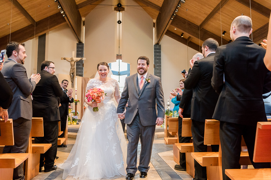 Happily Married Bride and Groom from New Jersey Real Wedding / photo by Havana Photography