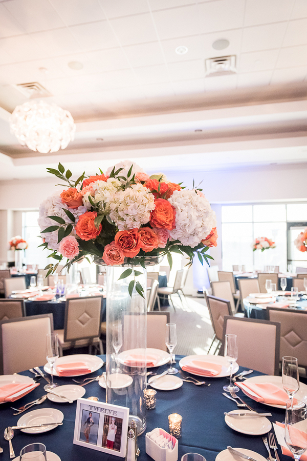 Gorgeous Reception Room from a New Jersey Real Wedding / photo by Havana Photography / Florals by Barbara Bell Design
