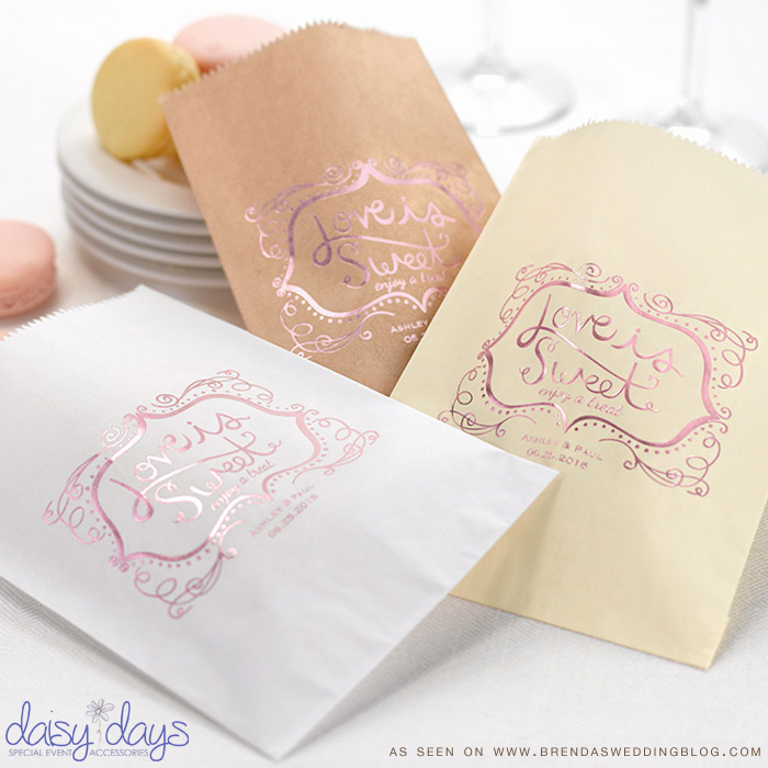 stylish Wedding Goodie Bags : Say it with a Sweet Treat {candy, cookies, mints, you decide}