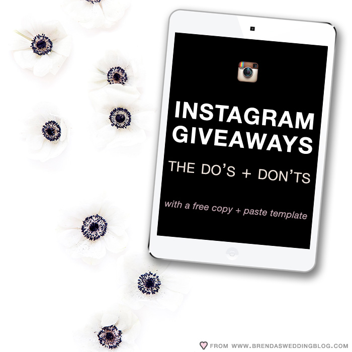 Instagram Giveaways : The Do's and Don'ts to Making it Work