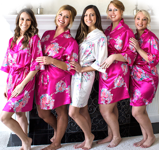 Personalized Floral Satin Robes for Bridesmaids - Robes are The Number 1 Bridesmaid Gift
