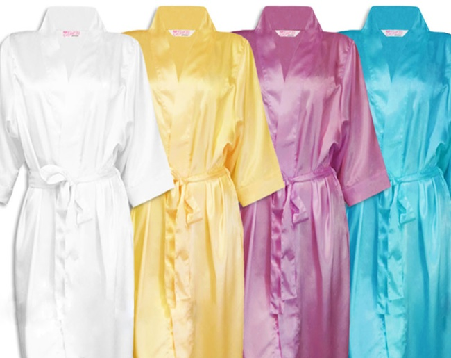 Bridesmaid Robes to Match Wedding Colors : Number 1 Bridesmaid Gift