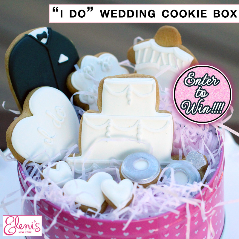 "It's a Sweet Wedding Giveaway - Enter to Win a Box of 10 ""I Do"" Wedding Cookies from Eleni's New York"