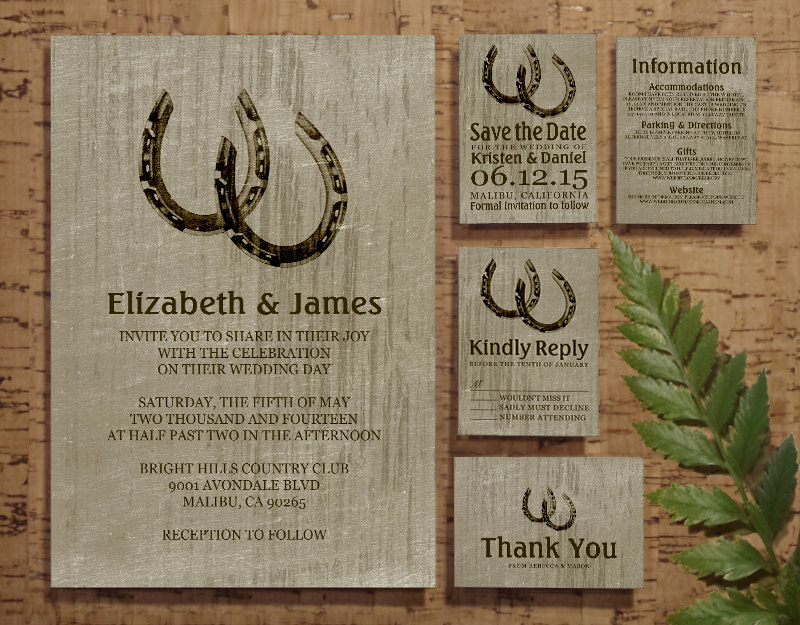 Vintage Horseshoes Wedding Invitation Suite | by   The Invitation Snob