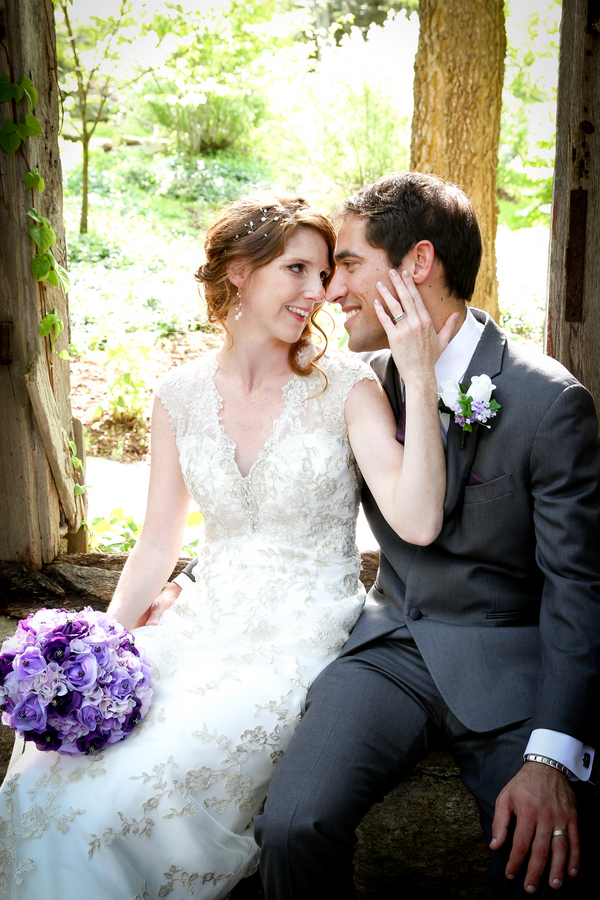 Pretty Purple Intimate Outdoor Virginia Wedding / photo by Crystal Image Photography