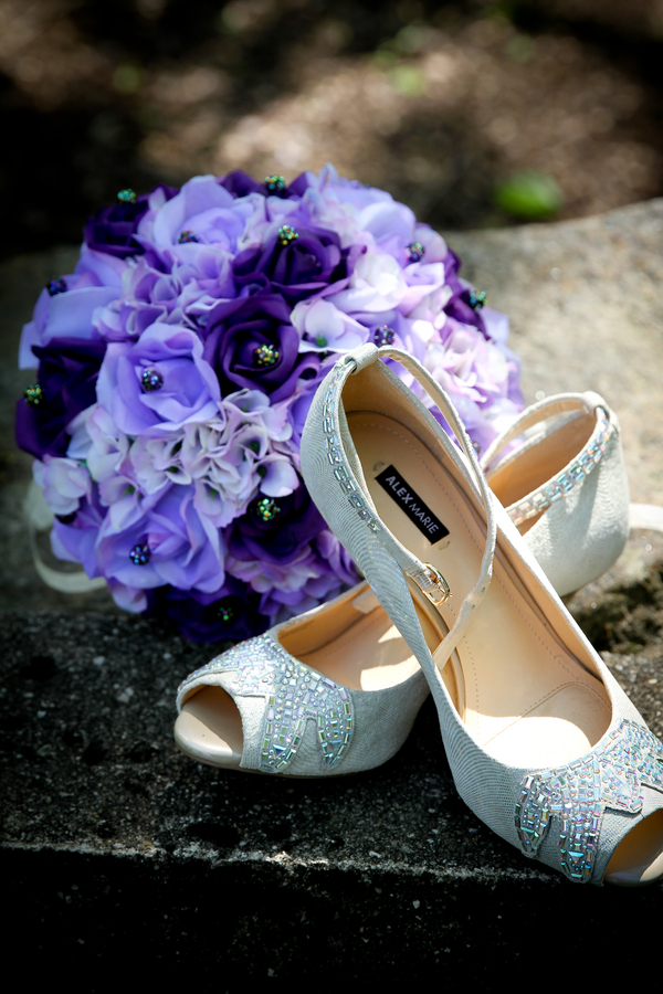 Bridal Shoes from an Intimate Outdoor Virginia Wedding / photo by Crystal Image Photography