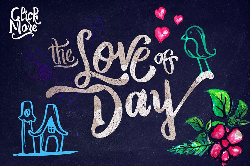 The Love of Day - Cornish Sweet Bold Typeface