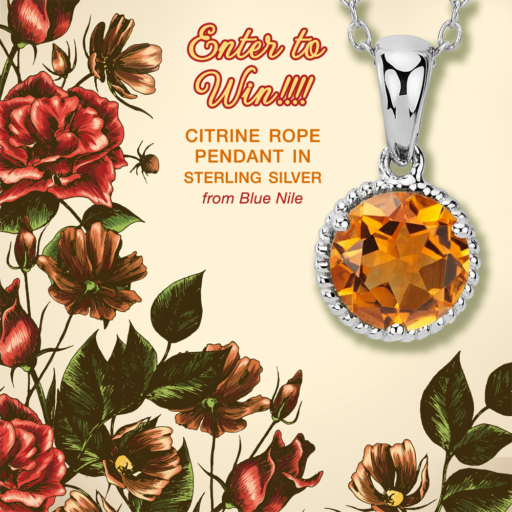 Accessorize Your Fall with This Gorgeous Citrine Rope Pendant Necklace from Blue Nile - Enter to Win