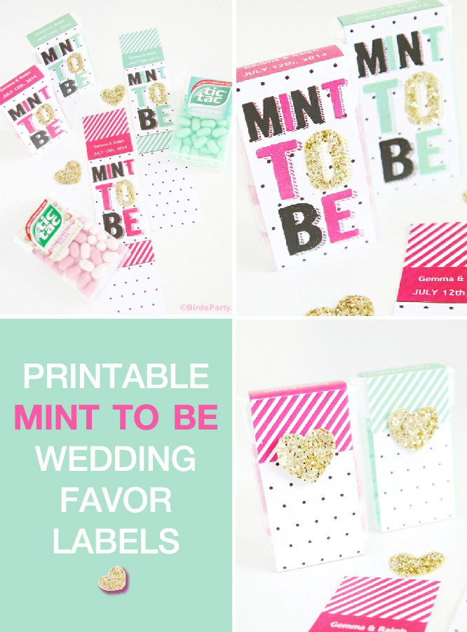 Mint To Be Wedding Themed Printables from Birds Party