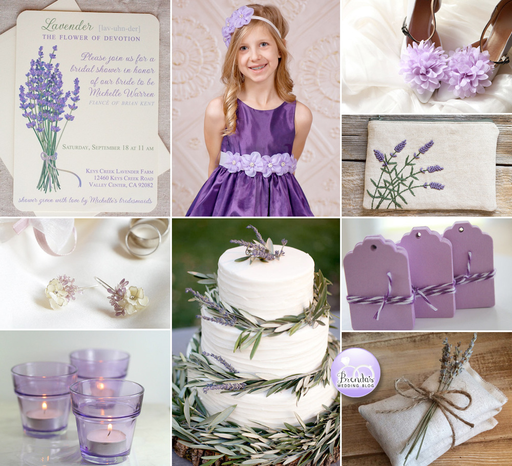 Lavender Wedding Inspiration Board {ideas to incorporate your flower when it's out of season}