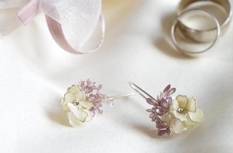 Lavender Wedding Earrings