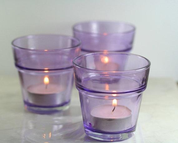 Lavender Votive Candle Holders