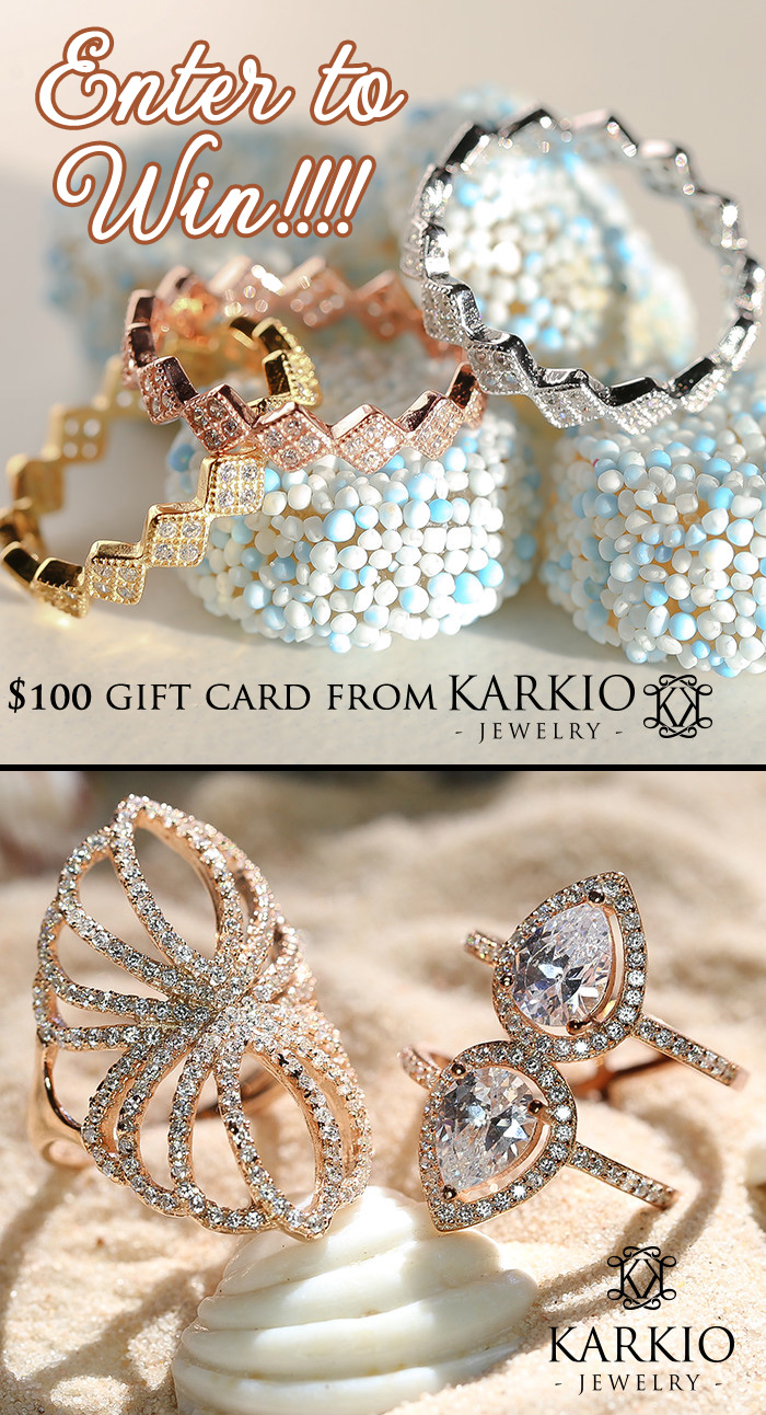Add a statement to your wardrobe with $100 in Gorgeous Karkio Jewelry