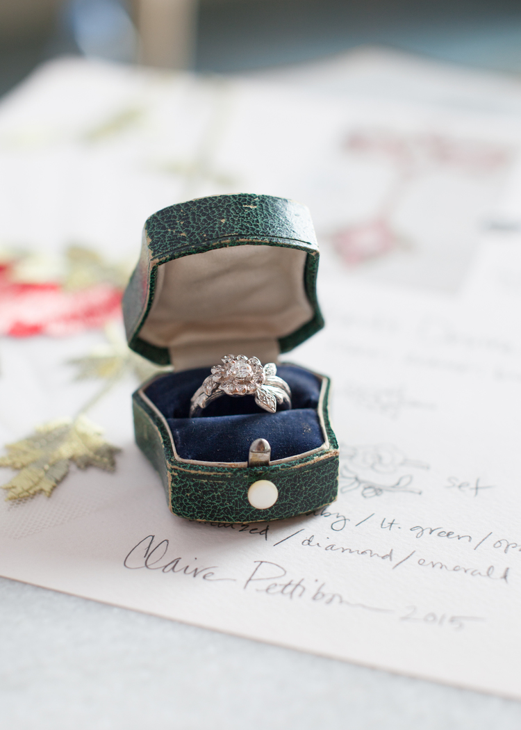 Claire Pettibone's Vintage-Inspired Engagement Ring Collection / comes with heart felt note from designer herself