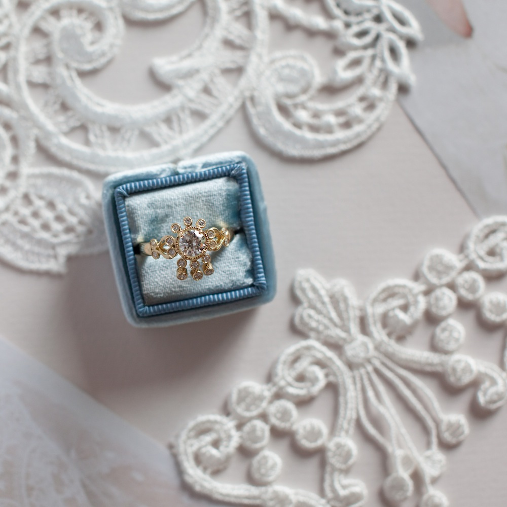 Claire Pettibone's Vintage-Inspired Engagement Ring Collection