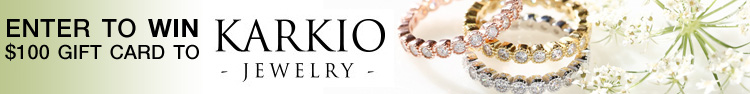 It's a $100 Karkio Jewelry Giveaway on www.BrendasWeddingBlog.com - come on over to enter to win