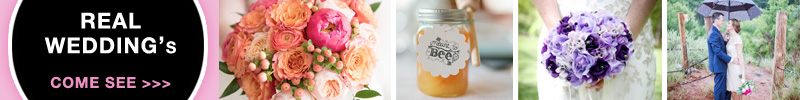 Real Wedding Friday's - come see pretty wedding inspiration