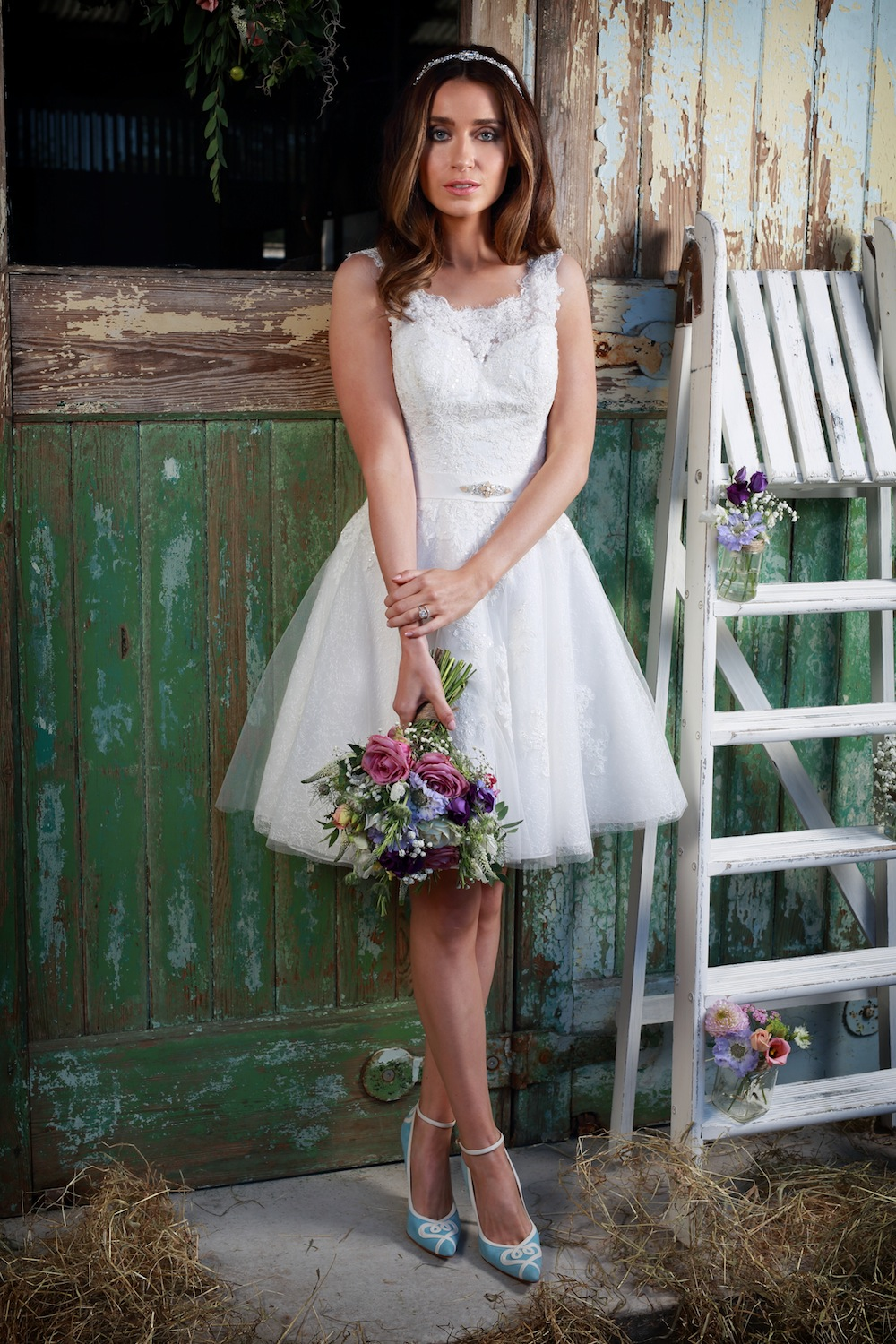 Amanda Wyatt Wedding Gown : Nia - a fun short + sassy lace dress
