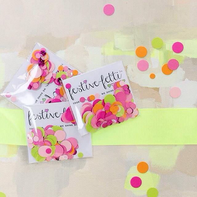 Custom Confetti in neon colors - handmade festive-fetti™