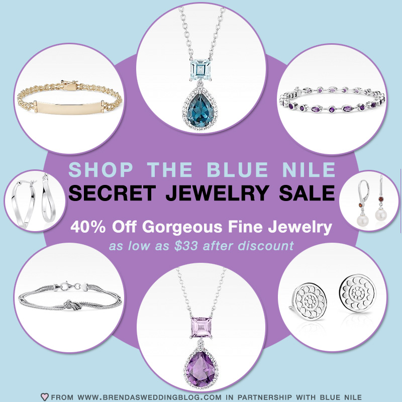 It's a Secret Jewelry Shopping Sale with 40% off Select Fine Jewelry from Blue Nile