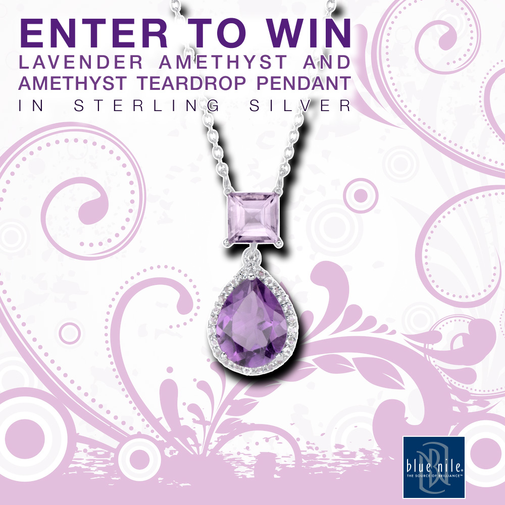 Be Vibrant with this Lavender Amethyst Pendant that Could Be Yours : Click to Enter to Win