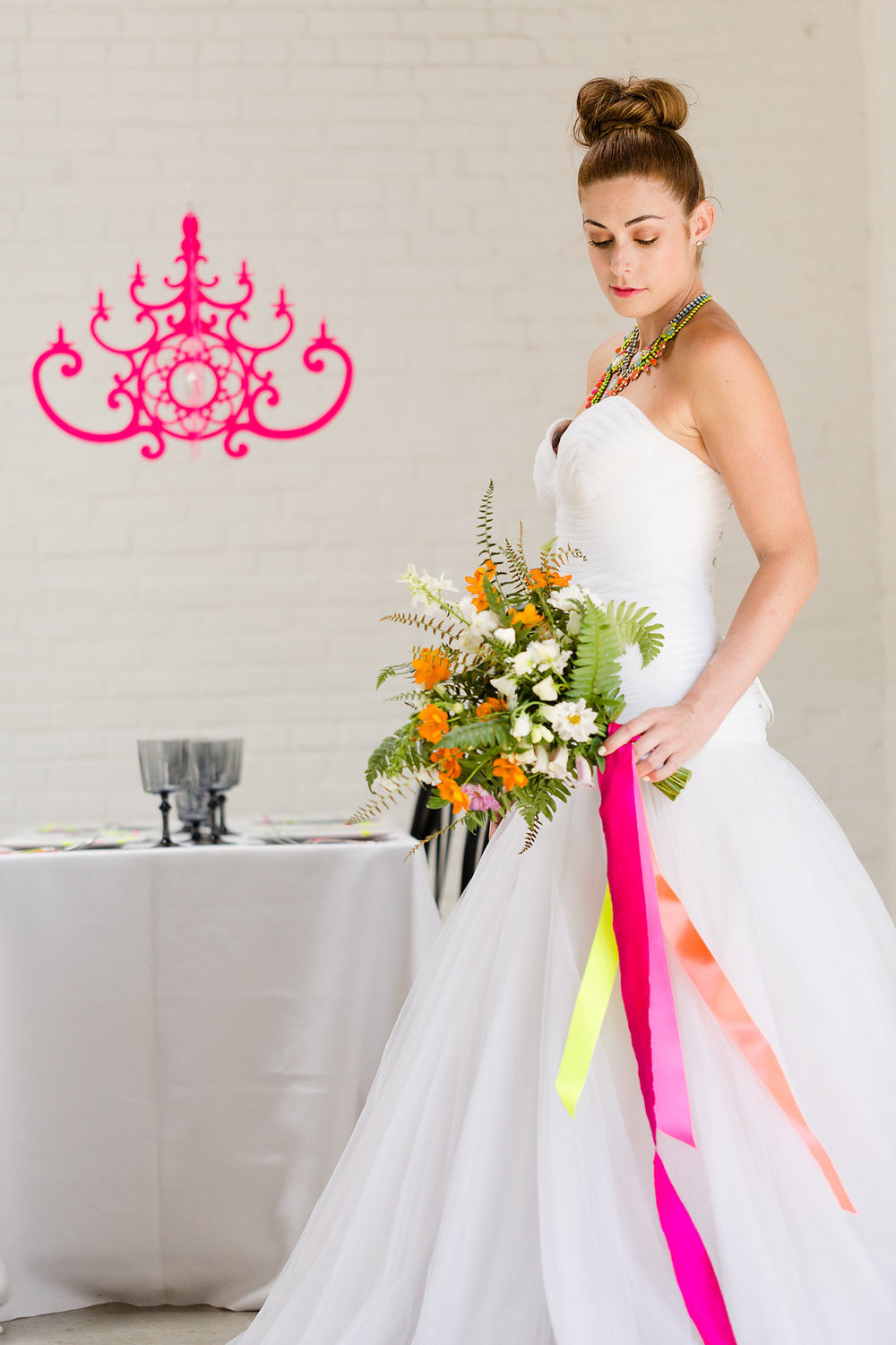 Neon Wedding Inspiration : Incorporate Pops of Color into Your Wedding Day / photo by Jessica Haley Photography