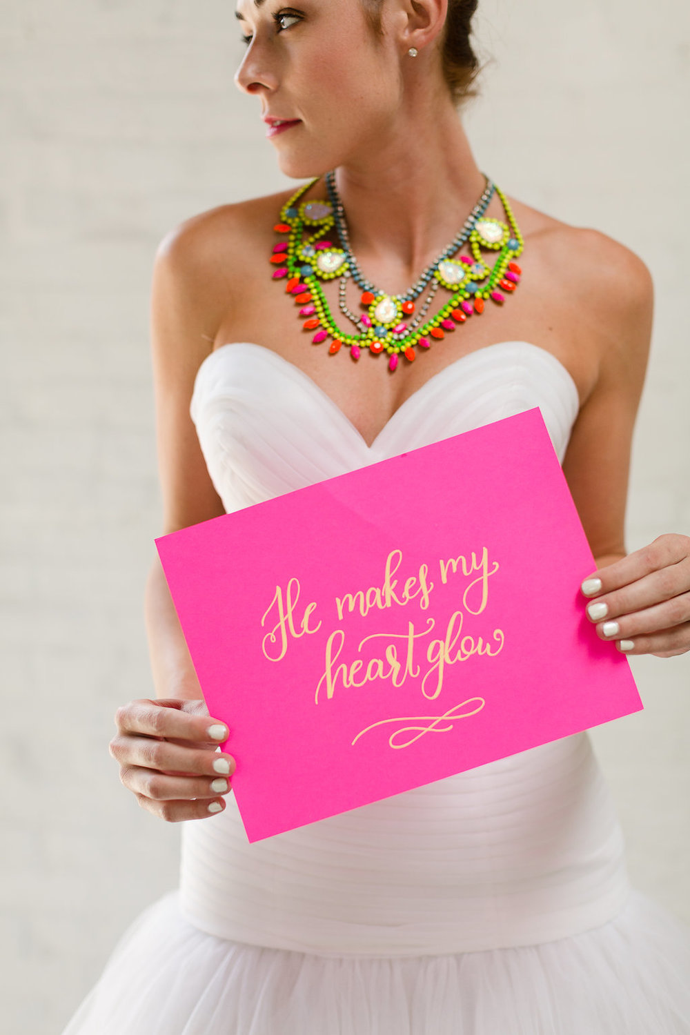 Neon Wedding Sign by Darling & Bliss / photo by Jessica Haley Photography