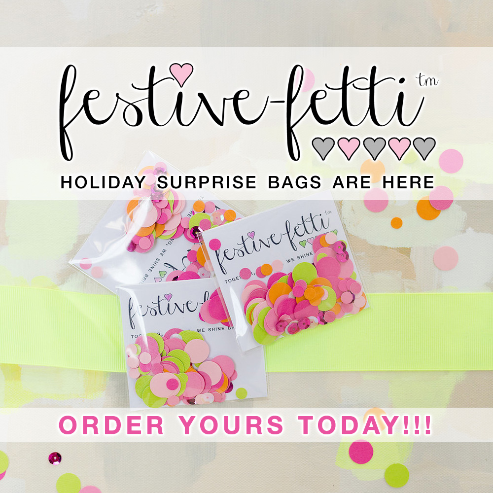 Celebrate the Holiday Season with festive-fetti™ Surprise Bags
