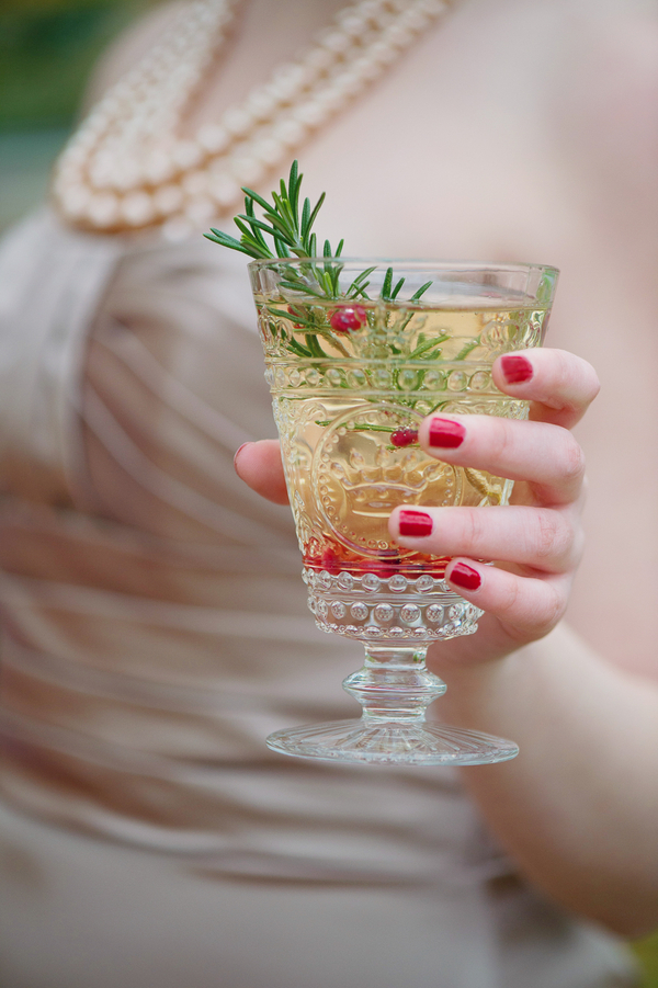 Winter Wedding Drink with Berries / photo by Evelyn Alas Photography