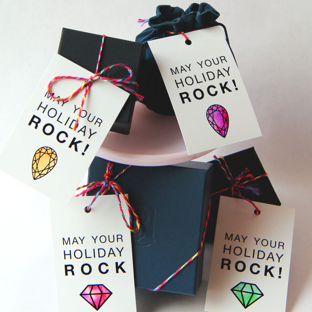 May Your Holiday Rock - Free Printable Gift Tags / click to download and celebrate the holidays