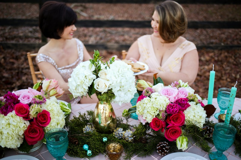 Host a Holiday Cookie Exchange to Say Thank You for Being My Bridesmaid / florals by EightTreeStreet / photo by Debbie Ringle Photography