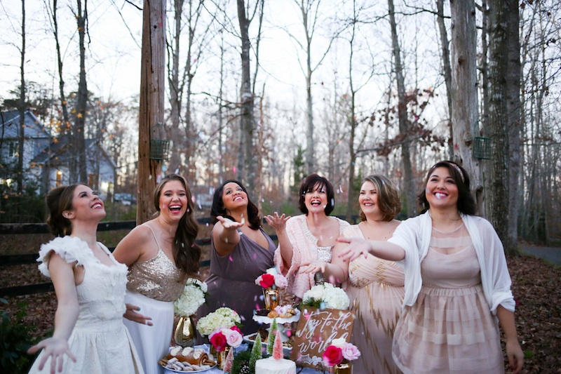 Let's Toss the Confetti to Celebrate and Say Thank You for Being My Bridesmaid / confetti by festivefetti on etsy / photo by Debbie Ringle Photography