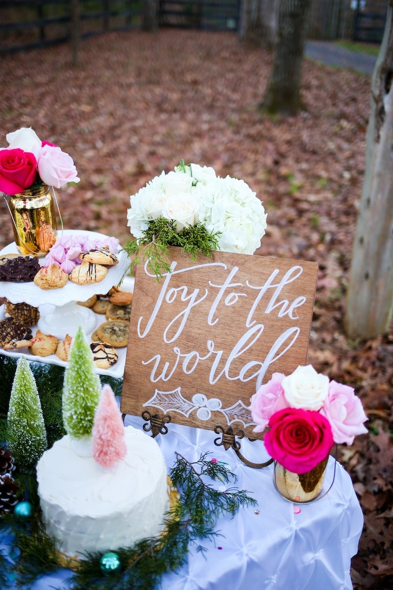 Holiday Cookie Exchange to Celebrate Your Bridesmaids / sign by Allison Dee Calligraphy / photo by Debbie Ringle Photography