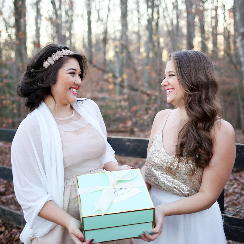 Holiday Cookie Exchange to Celebrate Your Bridesmaids / dresses by Charlotte Russe / photo by Debbie Ringle Photography