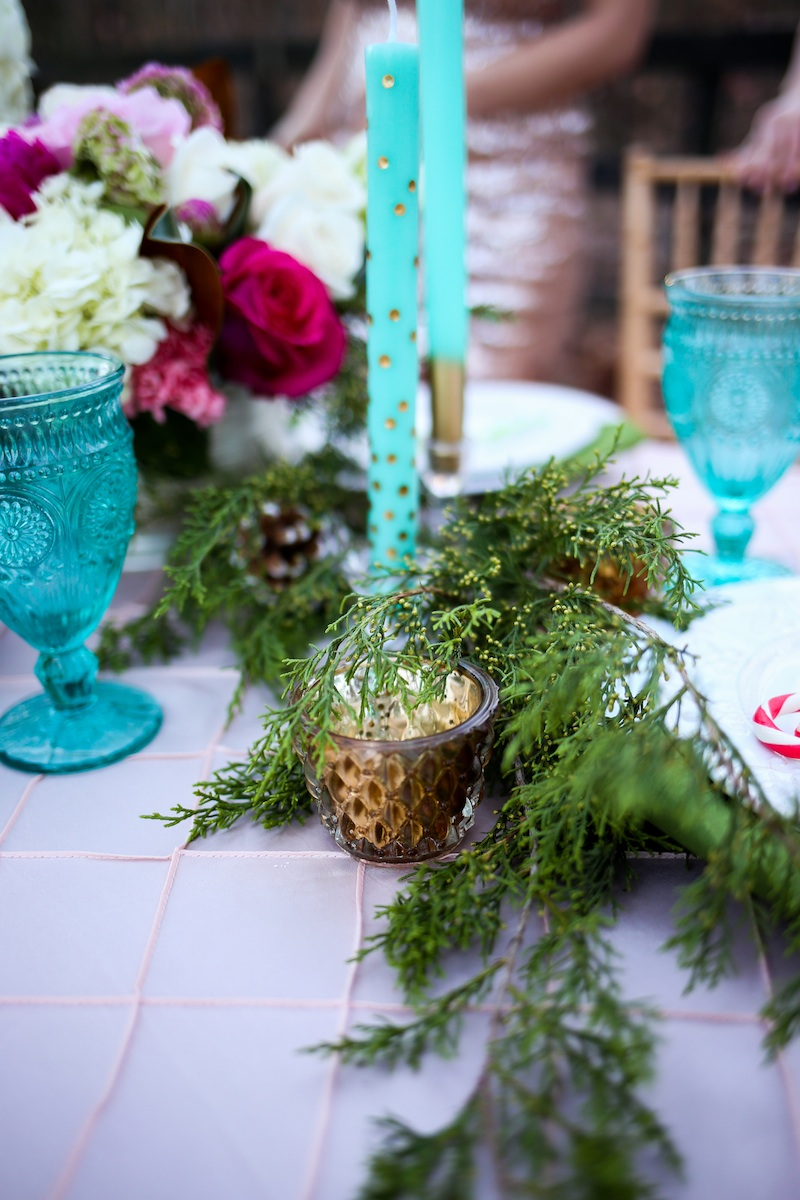 Holiday Cookie Exchange to Celebrate Your Bridesmaids / florals by EightTreeStreet / photo by Debbie Ringle Photography