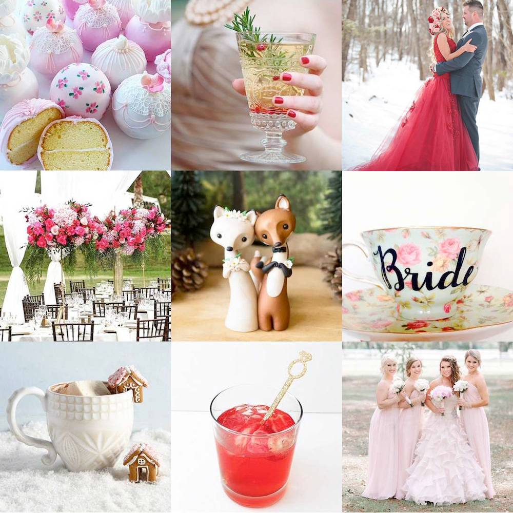 Top 9 Most Liked Instagram Posts for 2015 from @weddingsites {elegant weddings + unique crafts}