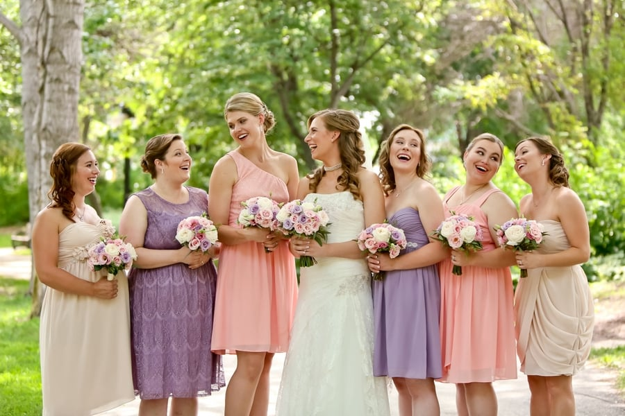 A Classically Elegant Peachy Pink And Purple Canadian Wedding