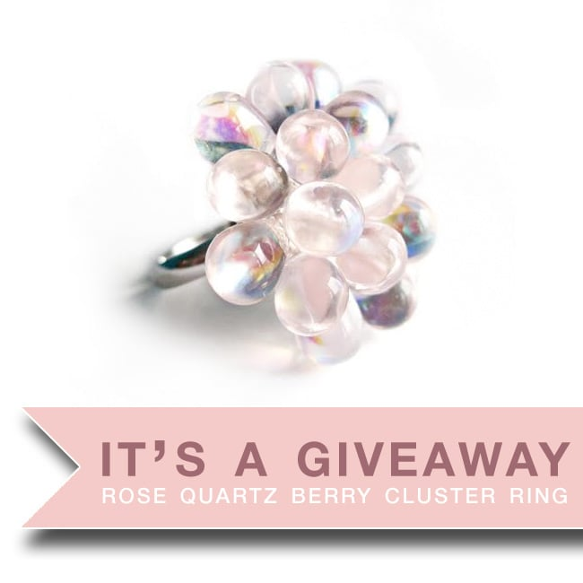 It's An Instagram Giveaway - Win a Rose Quartyz Berry Cluster Ring and make a statement in 2016