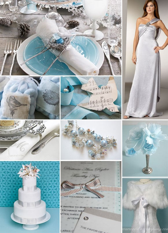 Blue and Silver Winter Wedding Inspiration Board - click to see more
