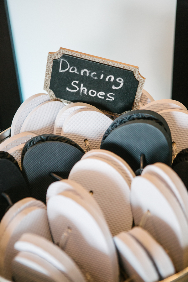 Dancing Shoes {Flip Flops} for a Vintage Beach Wedding in Montauk, New York / photo by Photography by Verdi