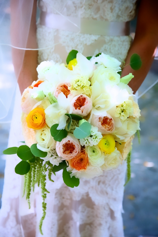 Stunning Yellow Infused Wedding Bouquet / photo by sun-dance photography