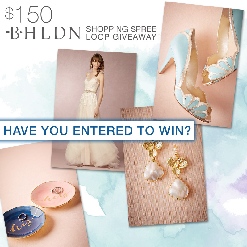 Join the Instagram Loop Giveaway and you could win a $150 Shopping Spree to BHLDN