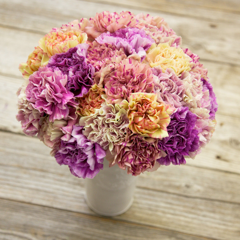 Everlasting Love Bouquet : features Gillyflowers in antique purple and yellow colors