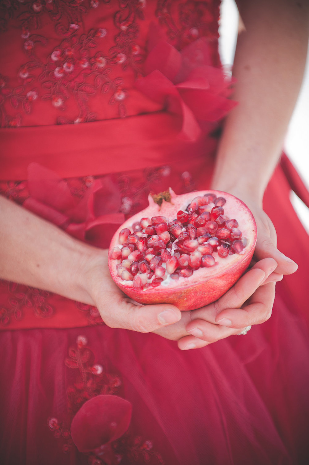Pomegranate Red Winter Wedding Inspiration - photo by Jenni Grace Photography