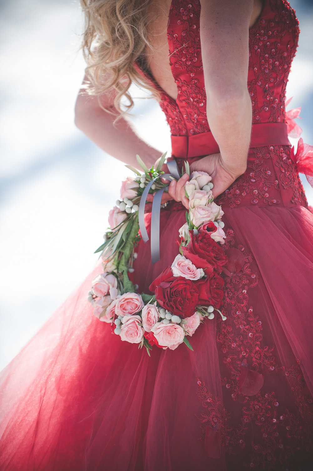 Pomegranate Red Winter Wedding Inspiration - photo by Jenni Grace Photography